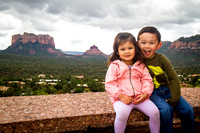 Adelyn and Avery in Sedona, AZ