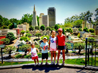 Adelyn, Avery, Colleen, and Kailyn at miniland San Francisco