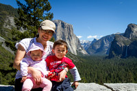 Natalie, Adelyn, and Avery in the Yosemite Valley