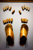 Wonder if the toe was missing, or just the trinket. (Funerary equipment belonging to wives of Thutmose III.)