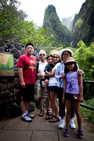Natalie's family at the Iao Needle