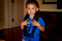 Avery got lei'd multiple times in Hawaii