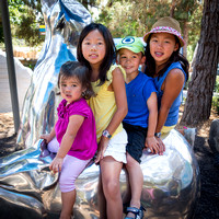 Adelyn, Colleen, Avery, and Kailyn at the San Diego Zoo