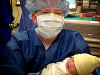 Aaron and Adelyn in the OR