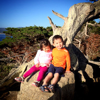 Adelyn and Avery at Point Lobos
