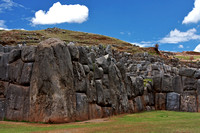 Enormous stone walls at Saqsaywaman