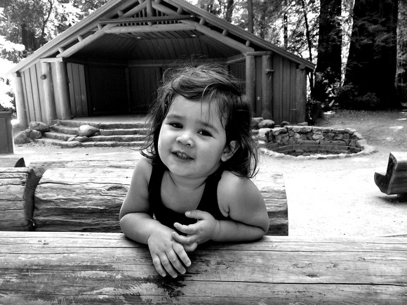 Adelyn at Big Basin Redwoods State Park