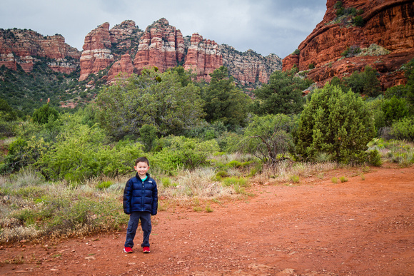 Avery hiking near Bell Rock, Sedona, AZ