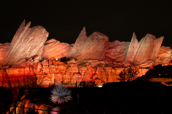 Cars Land at night