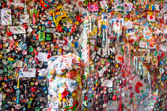 Moderately nasty gum wall, Seattle, WA