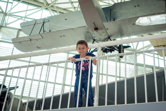 Avery at the Museum of Flight