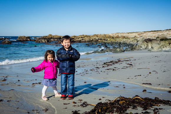 Adelyn and Avery, 17-Mile Drive