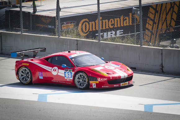 Scuderia Corsa #63, Ferrari of Silicon Valley race vehicle, on the track at Laguna Seca Raceway