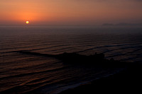 Sunset in the Miraflores district of Lima, Peru
