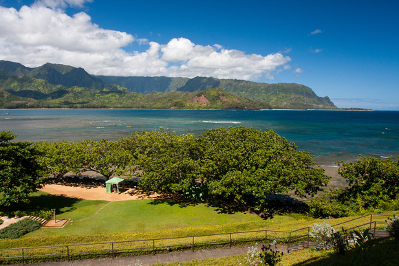 View from our hotel room in Princeville, Kauai