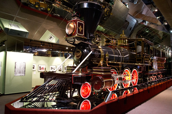 Old steam engine at the California State Railroad Museum