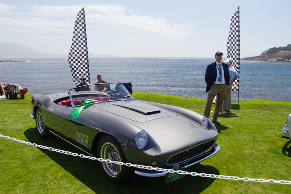 1958 Farrari 250 Scaglietti Spyder California on a beautiful day at Pebble Beach