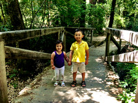 Adelyn and Avery at Big Basin Redwoods State Park